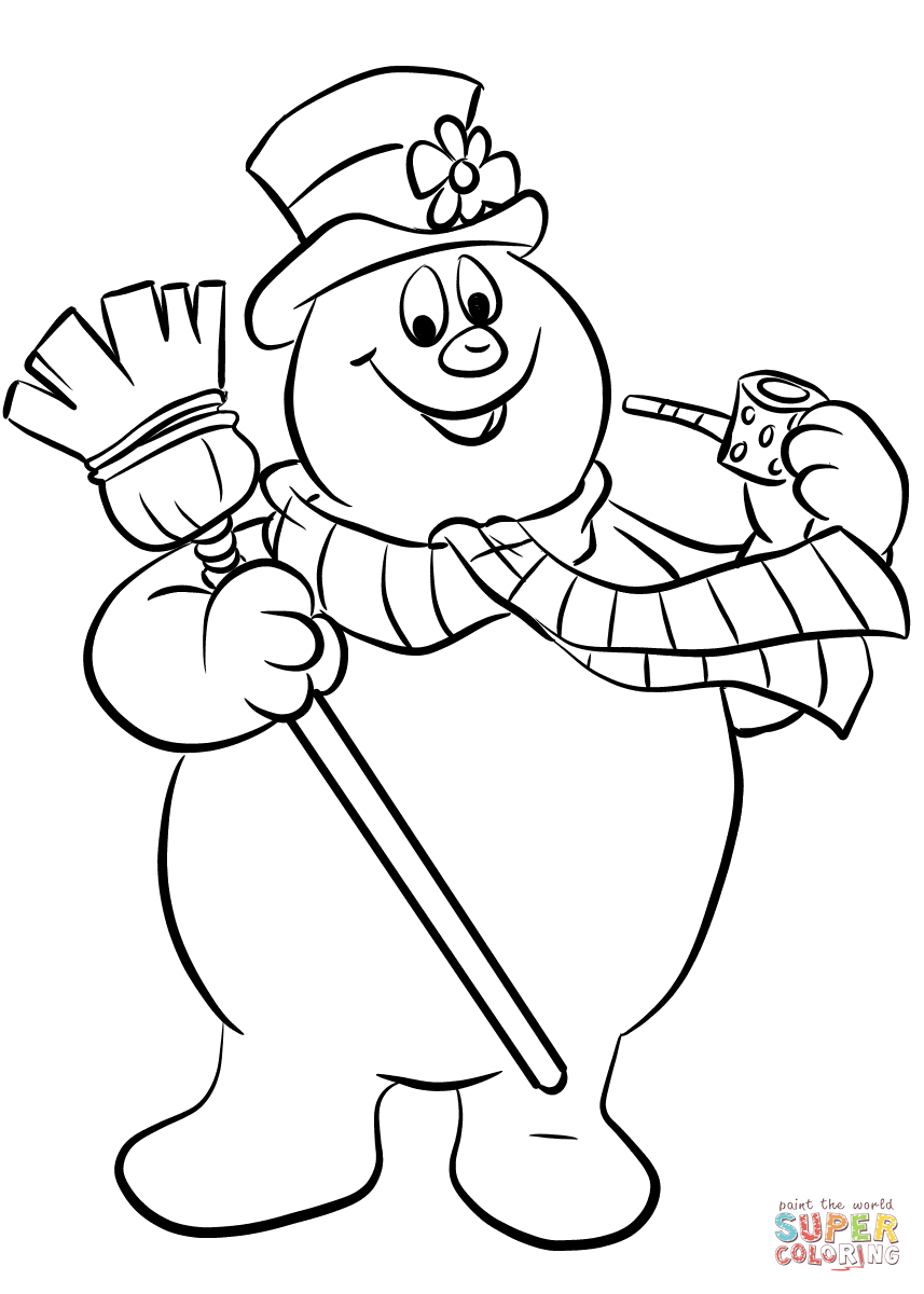 857x1200 Better Snowman Coloring Page Frosty The Free Printable Pages