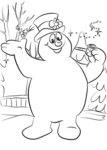 343x480 The Snowman Coloring Picture Colouring Book