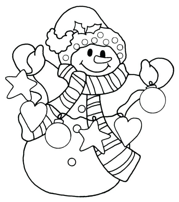 580x654 Christmas Snowman Coloring Pages