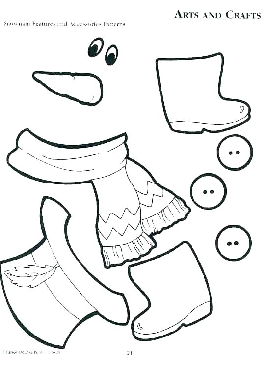 546x746 Free Snowman Coloring Pages