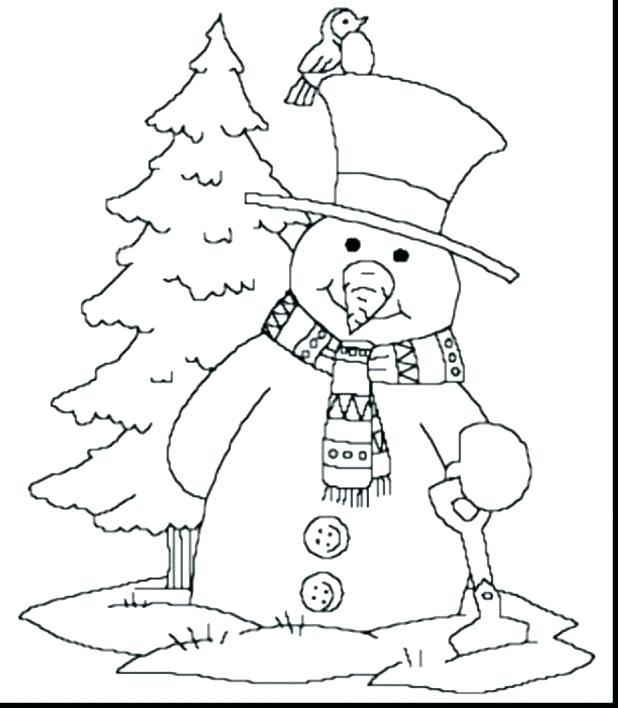 618x708 Snowman Coloring Pages Free