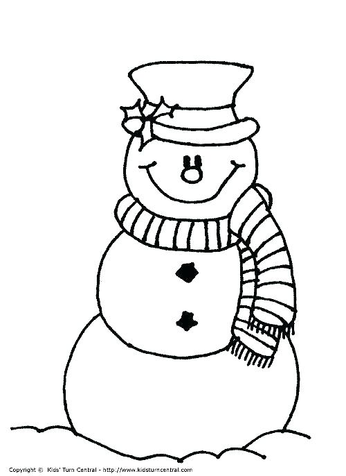 500x686 Coloring Pages Snowman Holiday Coloring Page Coloring Page Snowman
