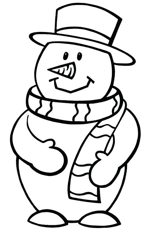 515x800 Cute Snowman Colouring Pages Sizable Coloring Page Free Printable