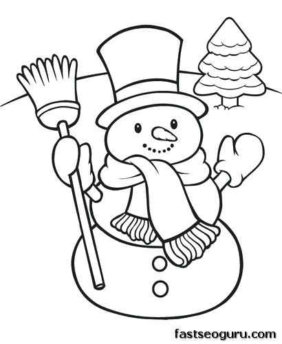 410x500 Free Snowman Coloring Pages To Print Plus Snowman Coloring Pages