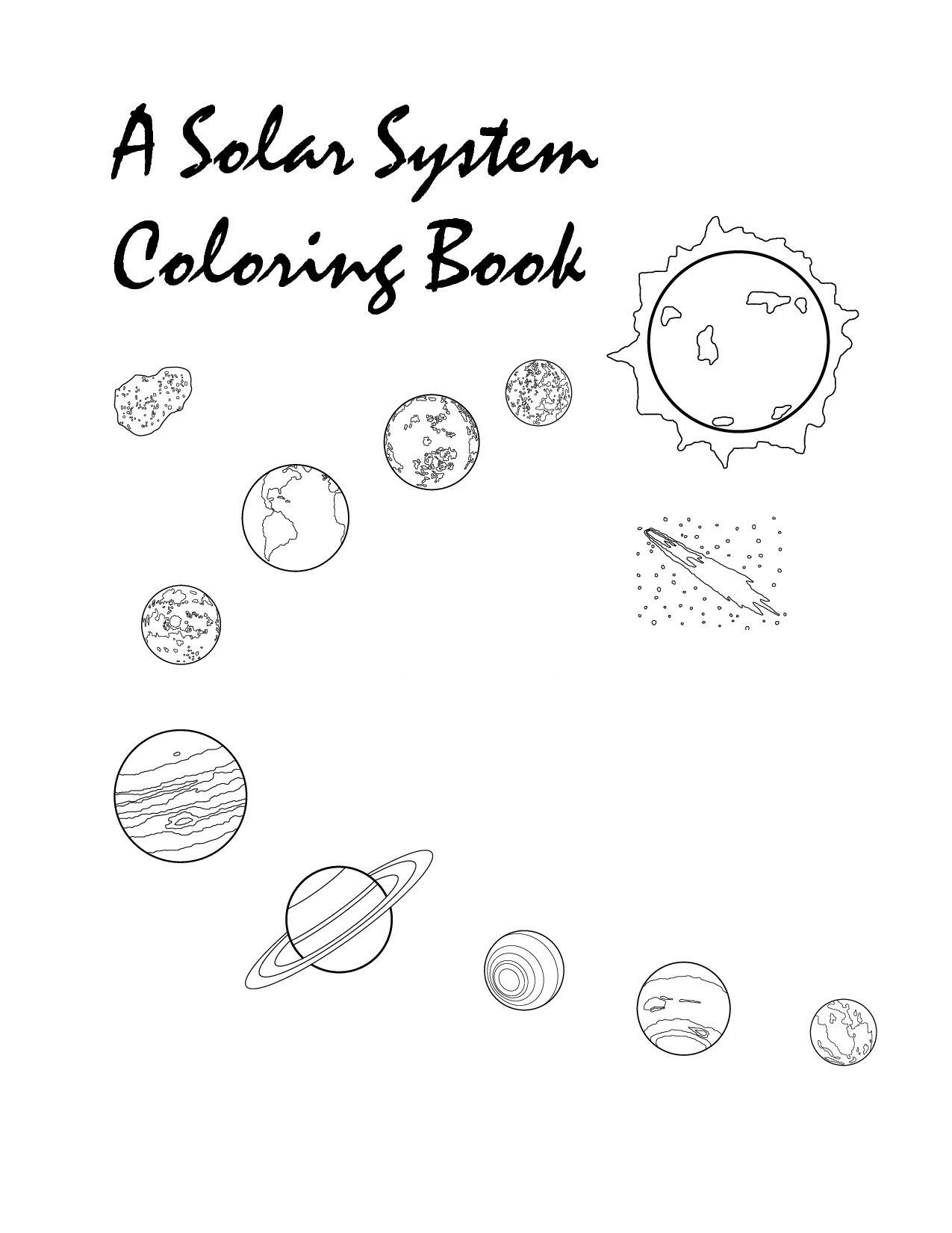 1275x1650 Planets Coloring Pages Coloringsuite To Print