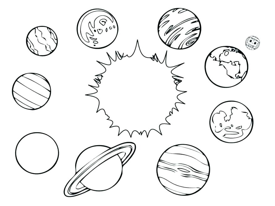 878x659 Solar System Coloring Pages Solar Tem Coloring Book Printable
