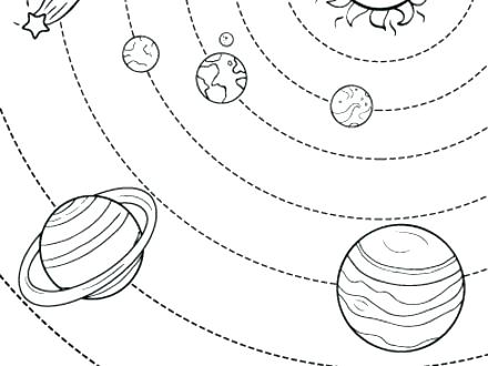 440x330 Solar System Coloring Pages