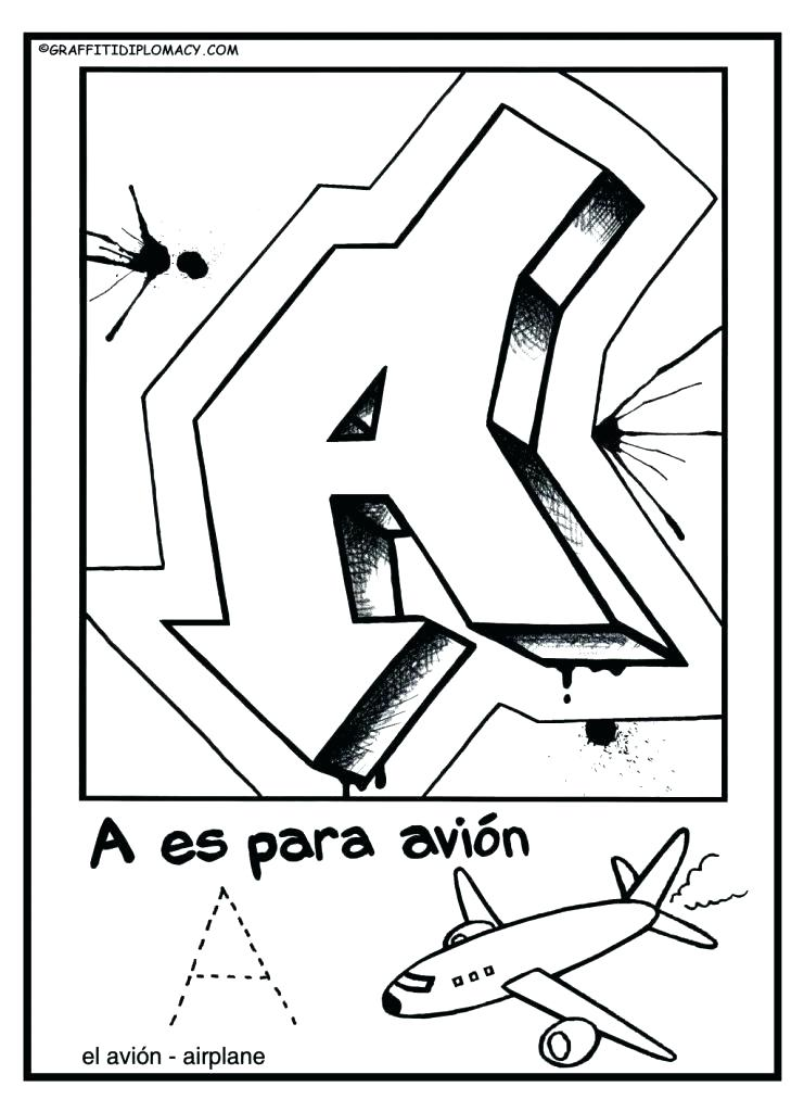 741x1024 Spanish Alphabet Coloring Pages Alphabet Coloring Pages Adult