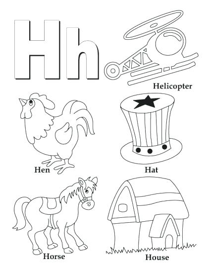 420x543 Spanish Alphabet Coloring Pages Letter H Coloring Pages H Is