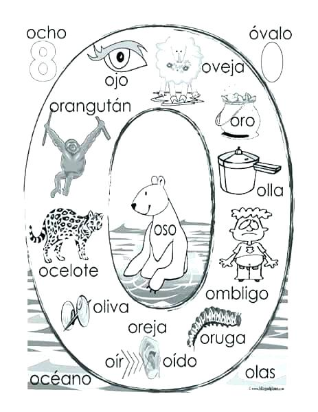 463x600 Spanish Coloring Page Coloring Books And Alphabet Coloring Pages O