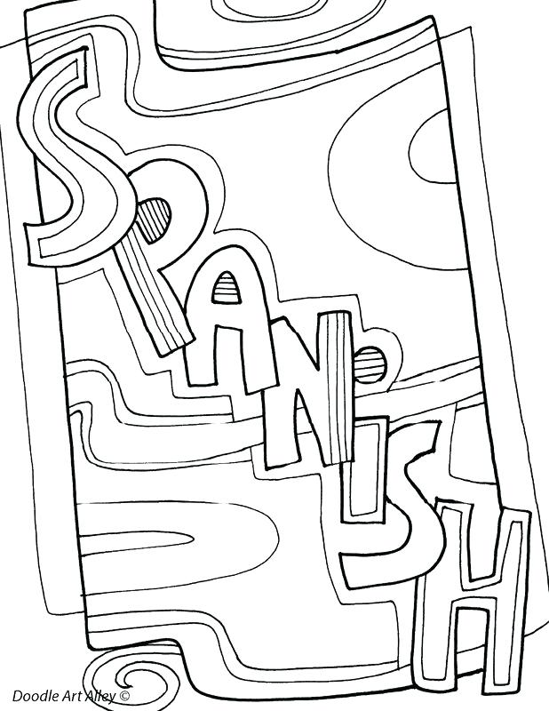 618x800 Spanish Coloring Page Coloring Page Coloring Pages In Coloring