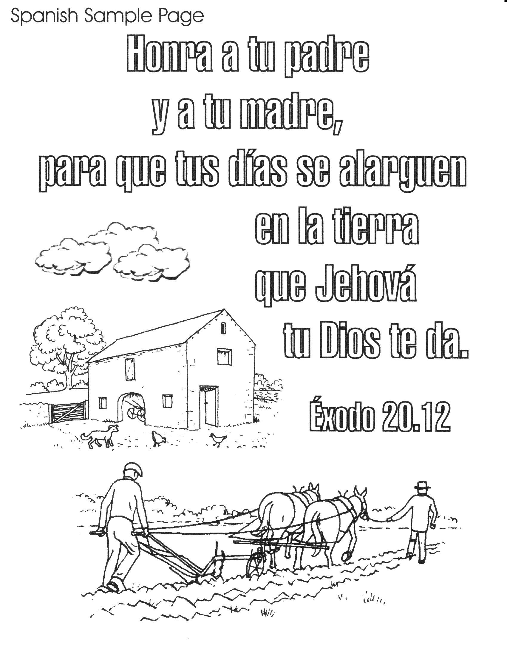 1700x2192 Bible Spanish Coloring Pages Free Printable Spanish Bible Verse