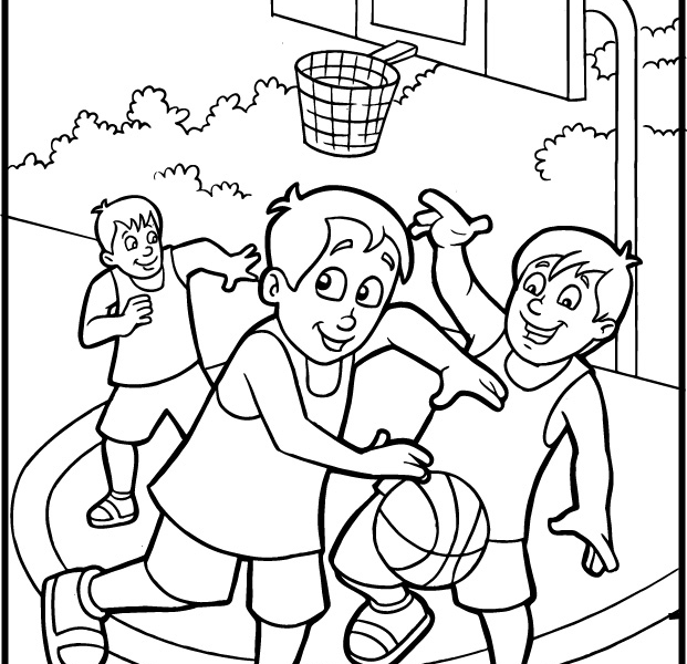 621x600 Free Sports Coloring Sheets Free Sports Coloring Pages