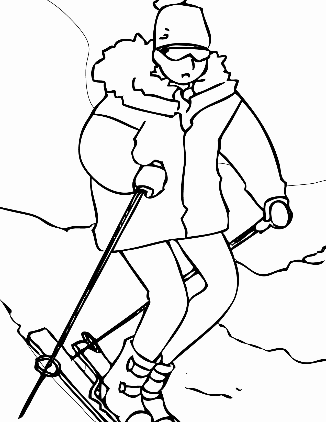 1275x1650 Winter Coloring Pages Free Printable Luxury Shrewd Winter Sports