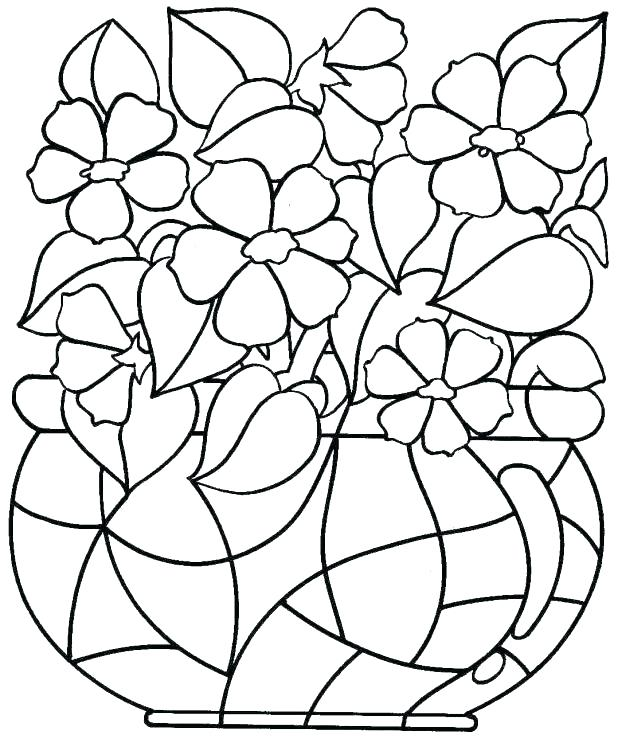618x739 Printable Spring Flower Coloring Or Printable Kids Coloring Pages