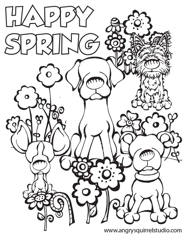 600x763 Spring Coloring Pages Happy Spring Superb Free Printable Spring