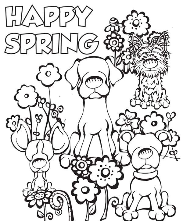 600x725 Free Printable Spring Coloring Pages Happy Coloring Pages