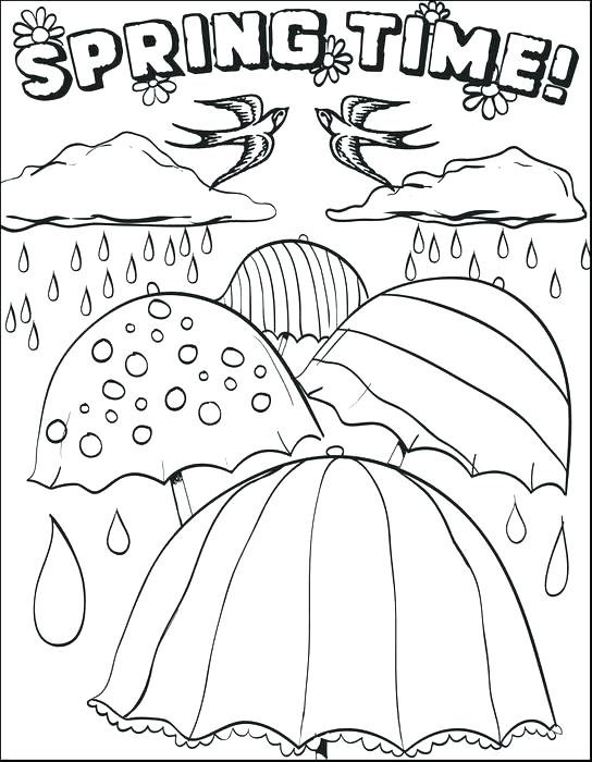 544x700 Coloring Pages Weather Coloring Sheets Spring Weather Coloring