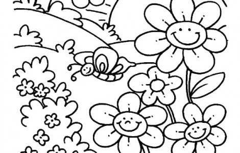 470x300 Free Spring Coloring Pages For Kids To Print Math