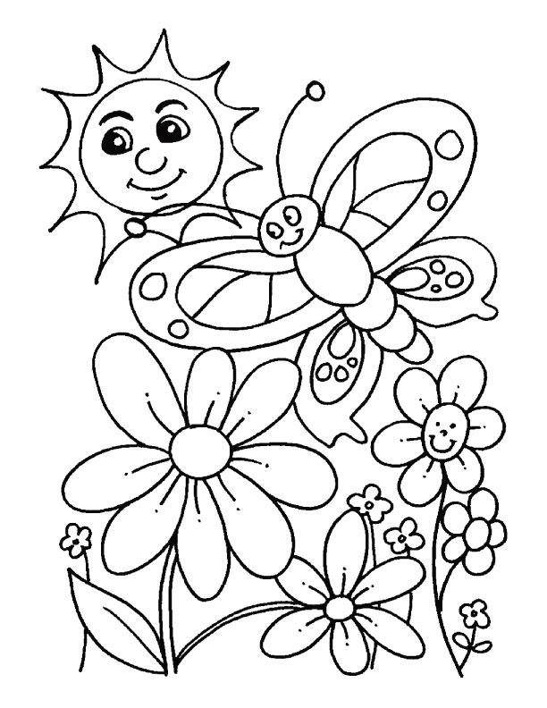 612x792 Free Spring Coloring Pages