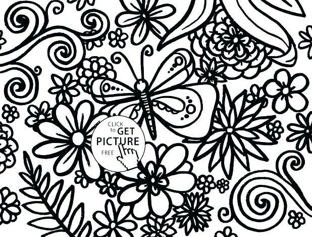 618x469 Color Pages For Adults To Print Also Rose Bouquet Coloring Page