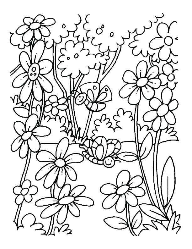 612x792 Coloring Pages For Spring Adult Colouring Pages Springtime
