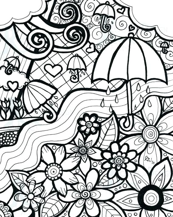 570x713 Spring Coloring Pages Free
