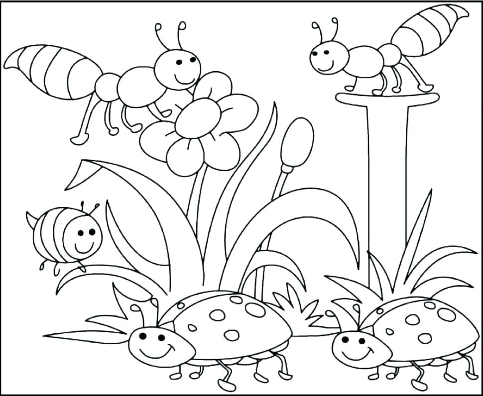 970x796 Spring Coloring Pages Free