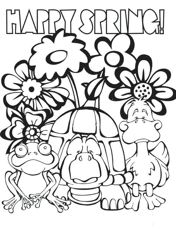 612x792 Easy Spring Coloring Pages For Kids Printable Free Spring Coloring