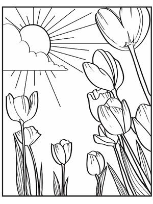 Free Spring Coloring Pages For Kids