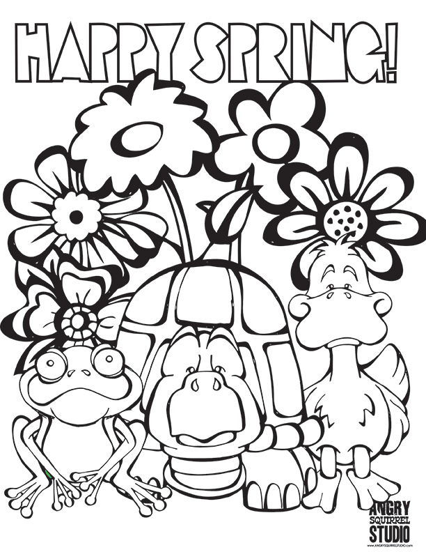612x792 Free Spring Colouring Pages Free Coloring Page