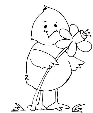 300x364 Spring Coloring Pages On Duck Spring Coloring Page Prek