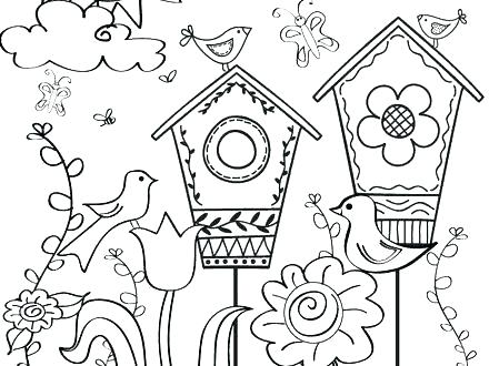 440x330 Spring Pictures Coloring Pages Free Printable Spring Coloring