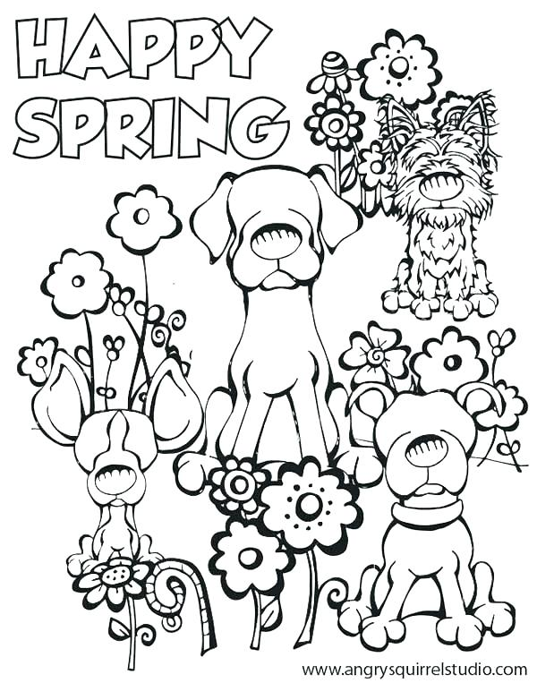600x763 Spring Pictures Coloring Pages Free Spring Coloring Pages Spring