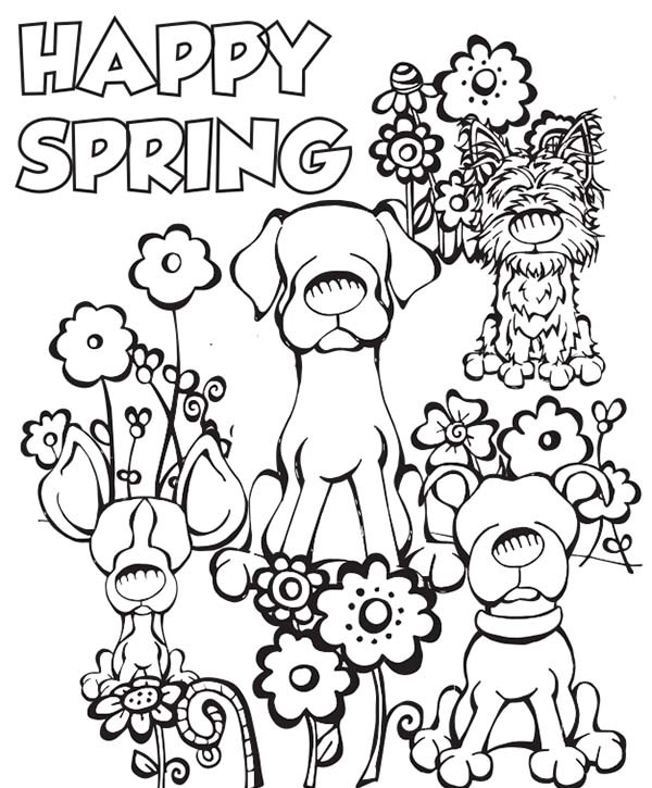 600x725 Spring Colouring Pages Printable Happy Spring Coloring Pages Color
