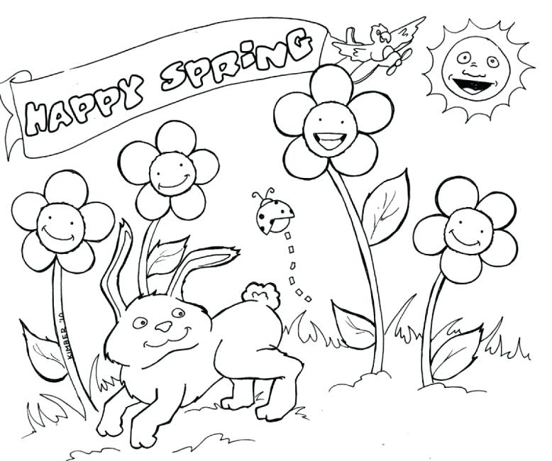 778x650 Free Printable Spring Colouring Sheets Free Spring Color Sheets