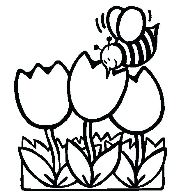 622x674 Free Spring Coloring Pages Or Spring Coloring Pictures Spring