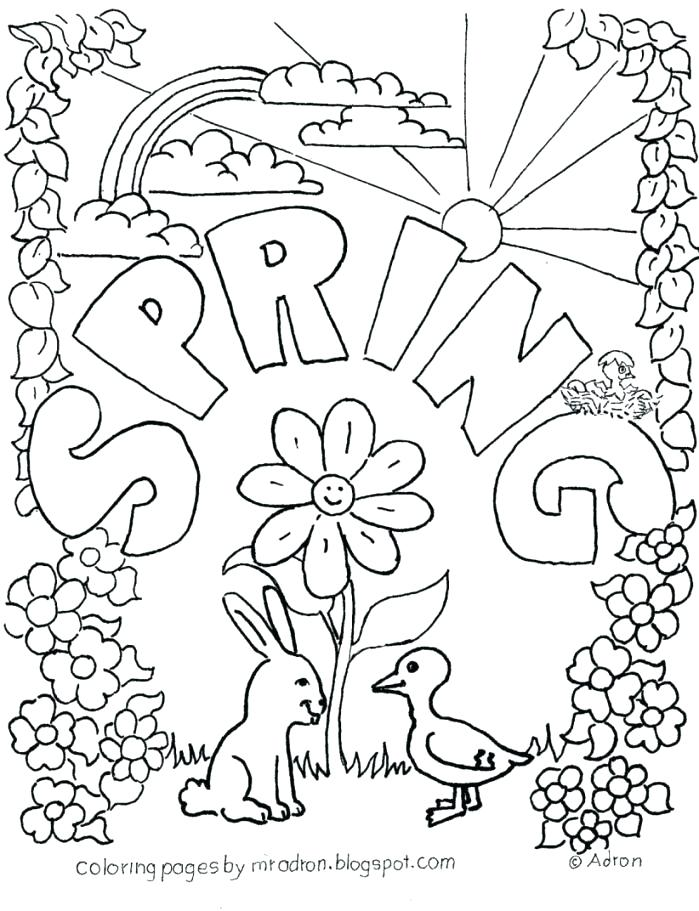 699x911 Free Spring Coloring Pages Spring Coloring Page Llama Free Spring