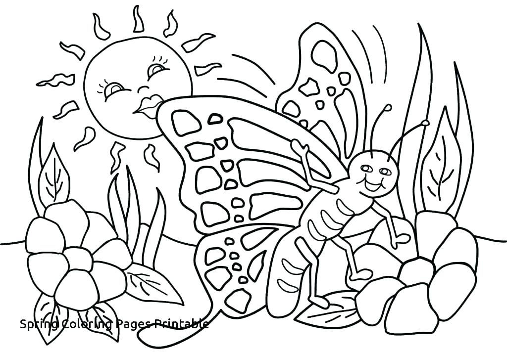 1024x712 Free Spring Coloring Pages Spring Coloring Pages For Preschoolers