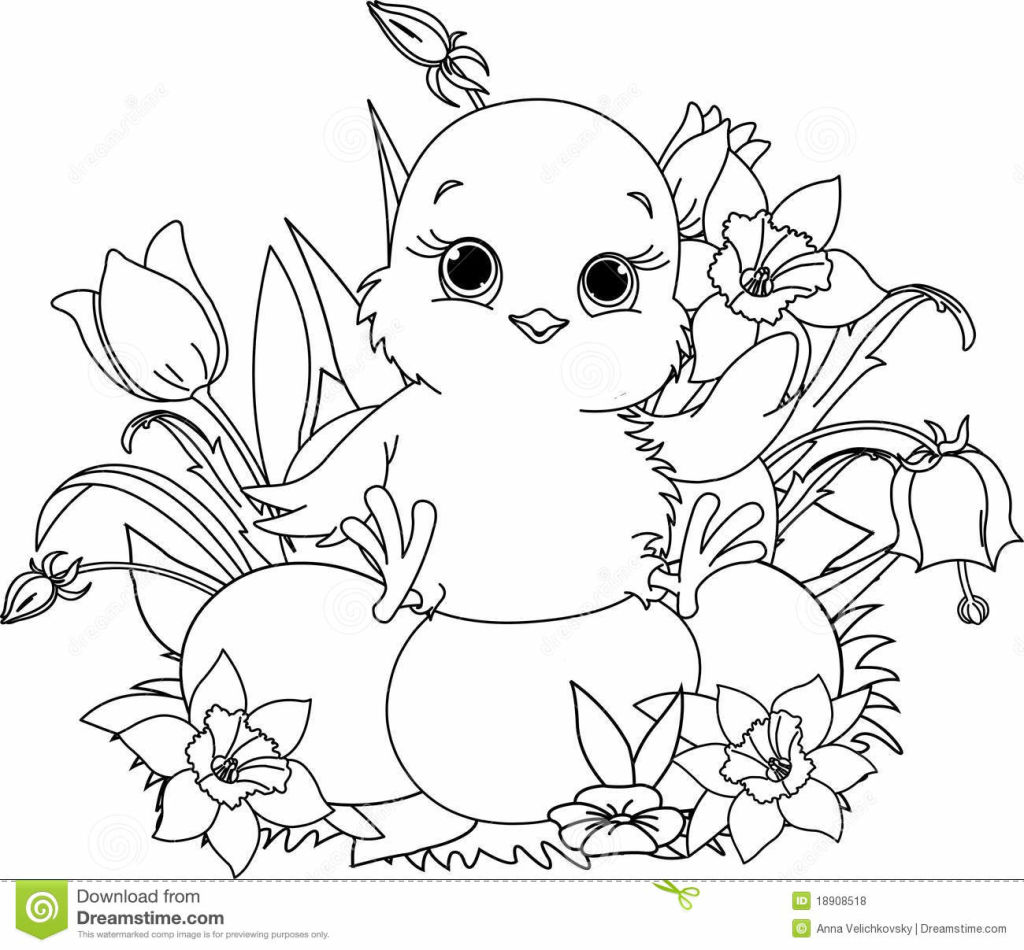 1024x950 Chick Coloring Pages