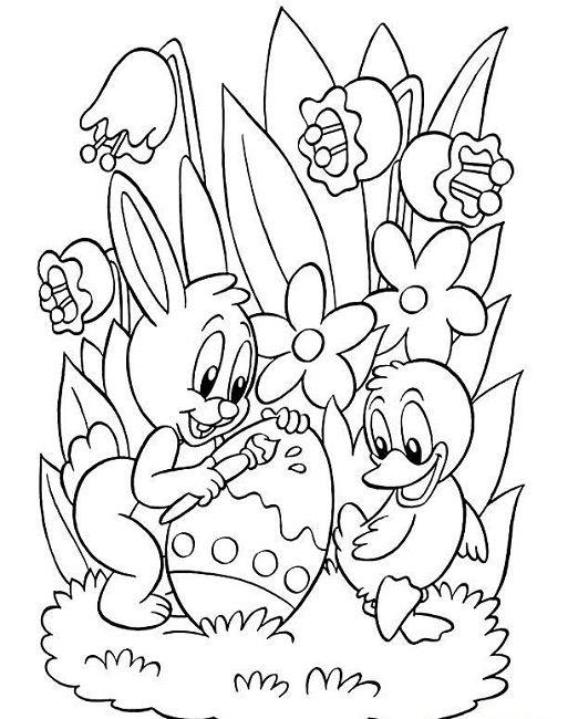 513x650 Easter Coloring Sheets Printable Free Animal