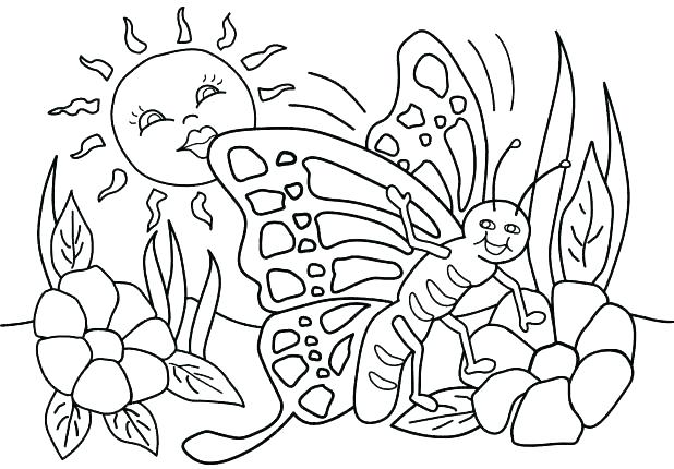 618x430 Spring Break Coloring Pages Free Springtime Coloring Pages
