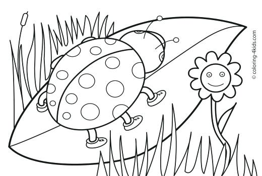 520x350 Easy Spring Coloring Pages For Kids Printable Coloring Sheet Free