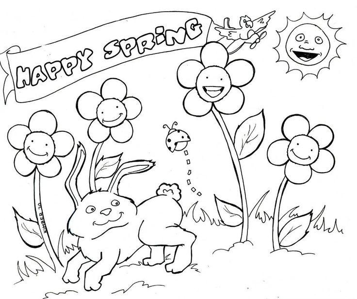 736x615 Surprising Idea Free Spring Coloring Pages Book Murderthestout