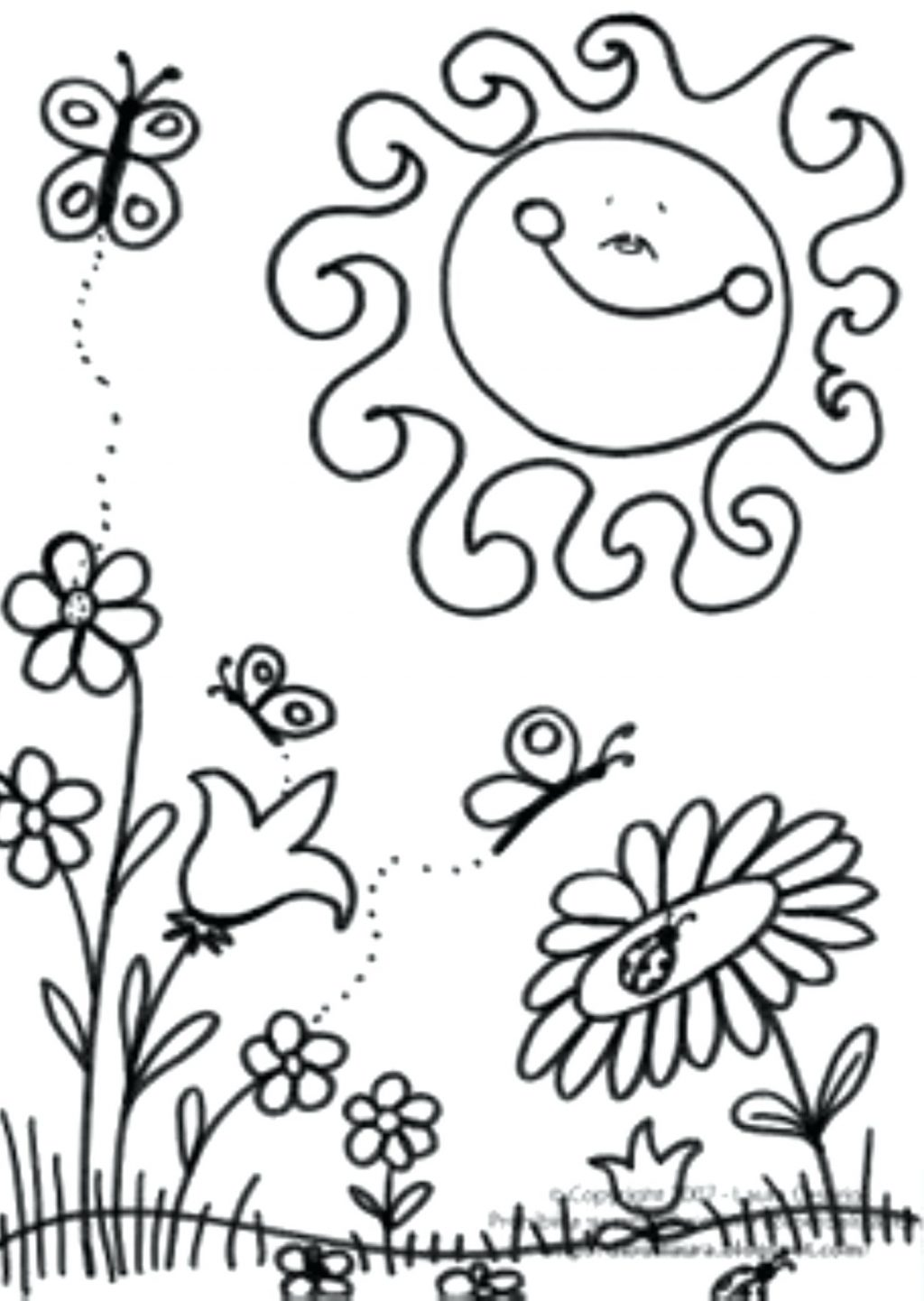 1024x1442 Coloring Pages Spring Coloring Pages Printable Scene Of Page