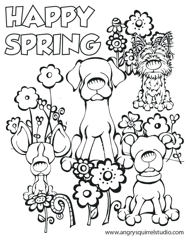 600x763 Spring Printable Coloring Pages