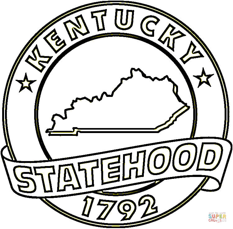 750x735 Kentucky Symbols Coloring Pages State Of Kentucky Coloring Page