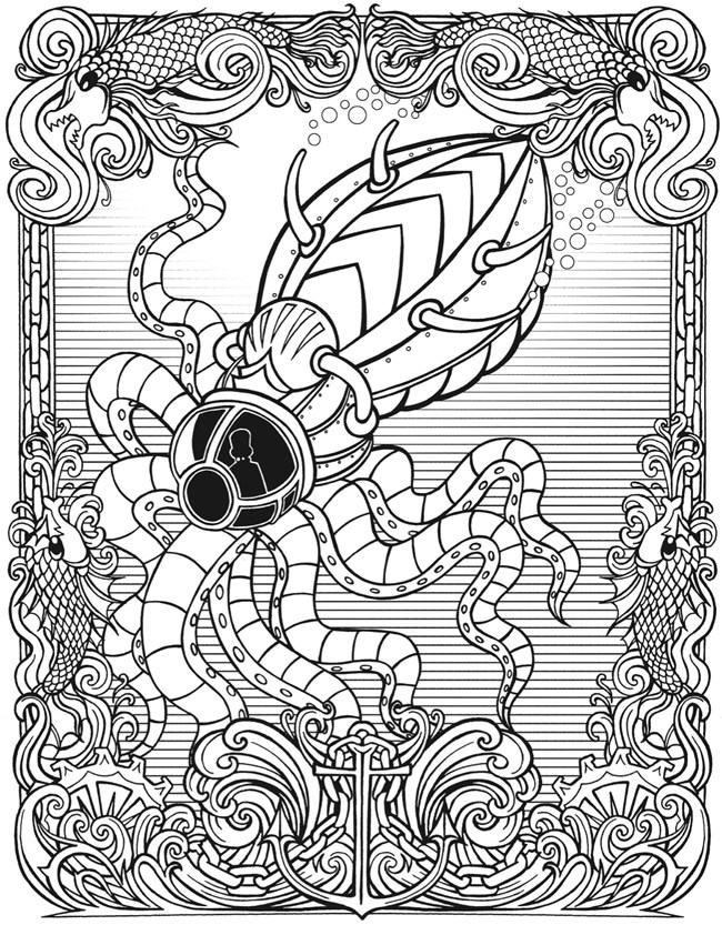 650x833 Free Steampunk Coloring Pages Simply Inspired