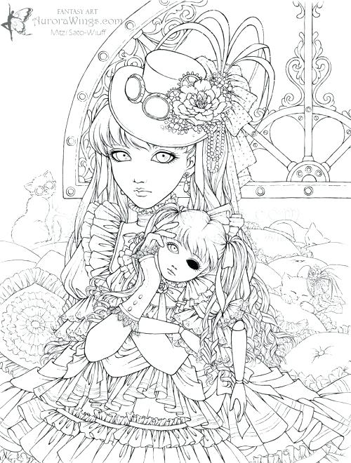 500x660 Printable Anime Coloring Pages Anime Printable Coloring Pages Free