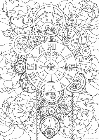 339x480 Steampunk Coloring Pages Photograph Creative Haven Steampunk
